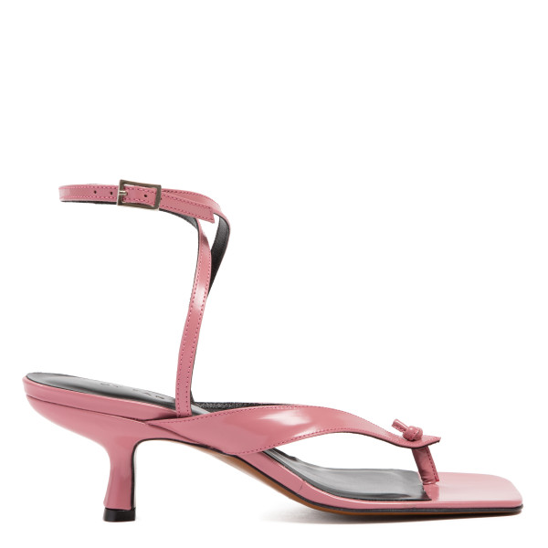 Mindy pink patent leather sandals