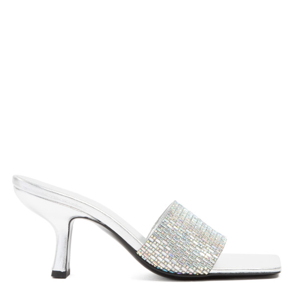 Dylan leather and crystals mule sandals