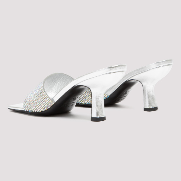 DYLAN MULE LEATHER AND CRYSTALS