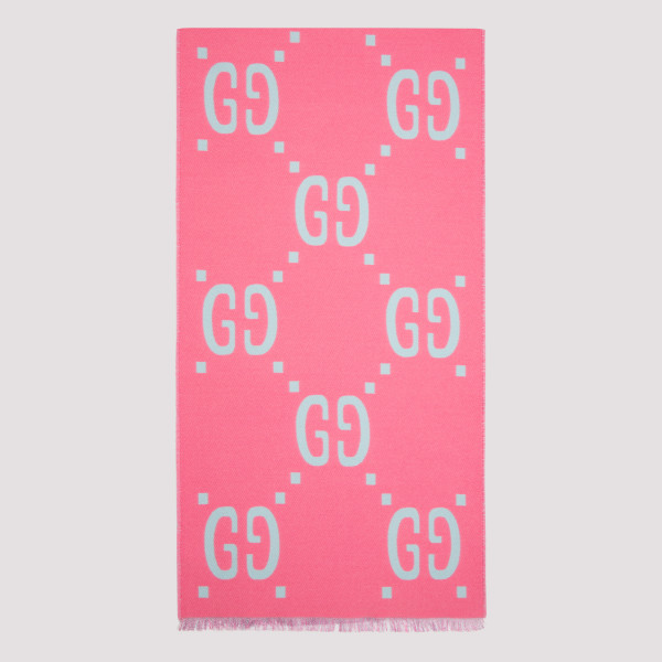 Pink and blue GG jacquard...
