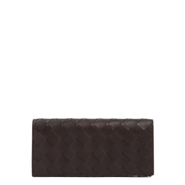 Brown long intrecciato wallet