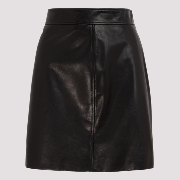 Prada BLACK LEATHER MINI SKIRT
