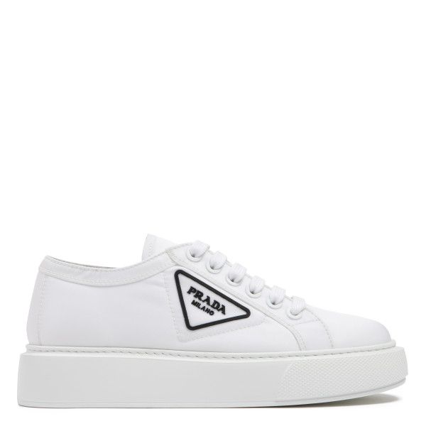 White nylon sneakers