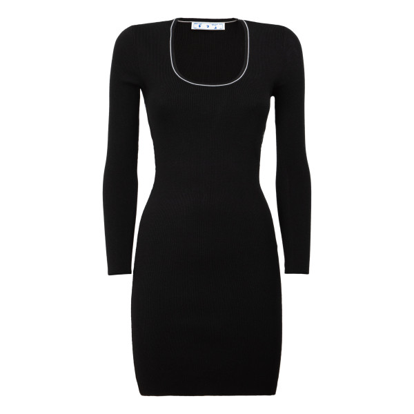 Logo black basic dress