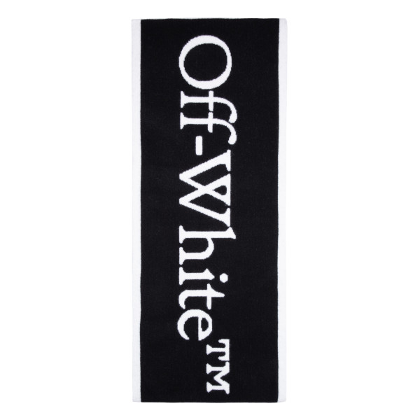 Black and white logo scarf