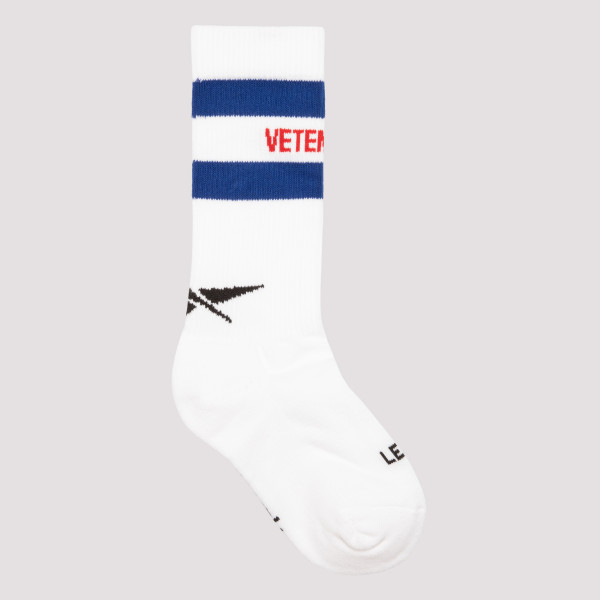 White cotton socks with logo