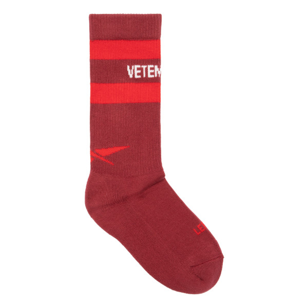 Burgundy cotton socks with logo