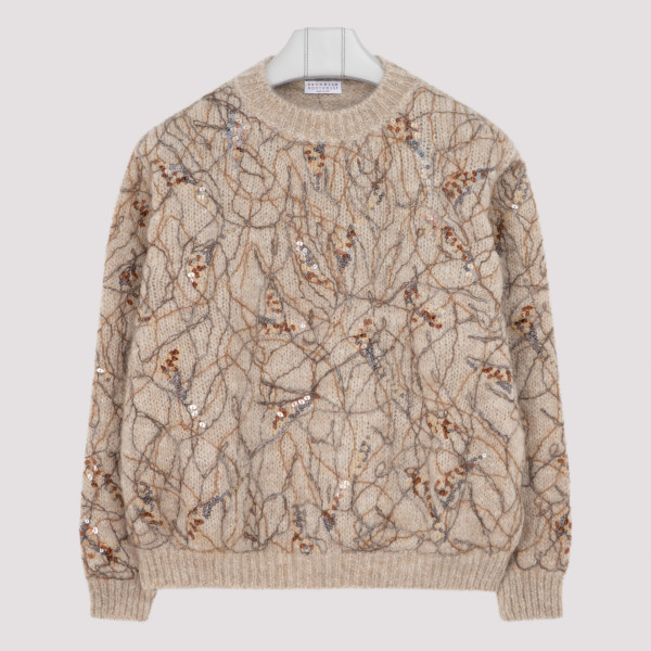MOHAIR SWEATER WITH EMBROIDERY