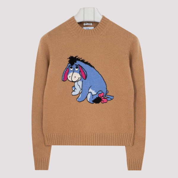 Beige wool sweater with Ih-Oh