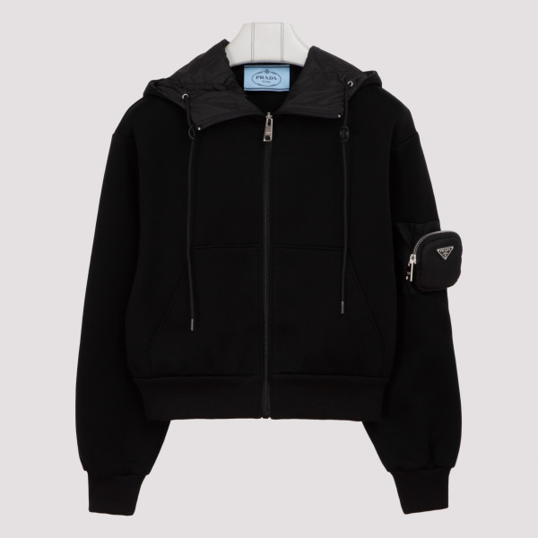 Black hoodie with zipped...