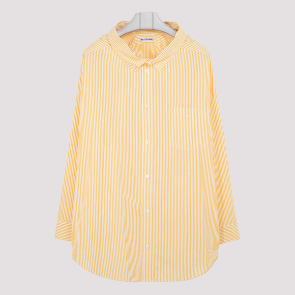 Yellow striped swing shirt