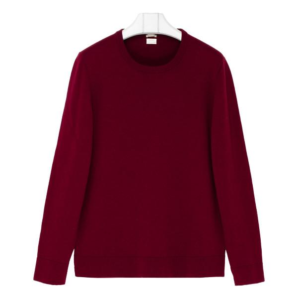 Burgundy cashmere sweater