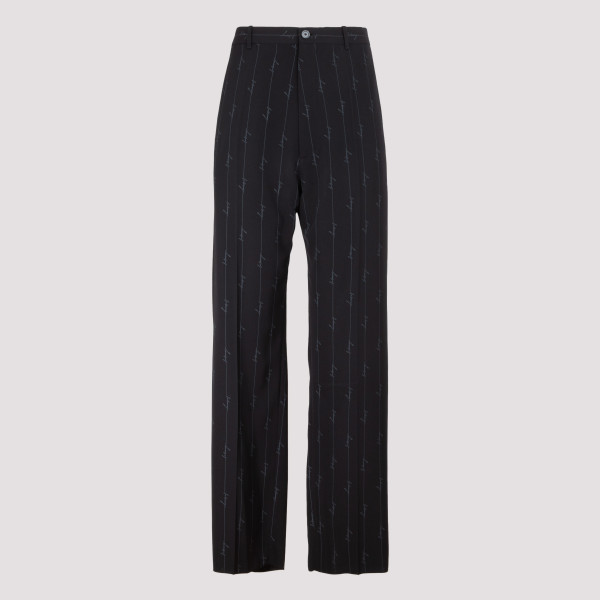 Signature logo boxy suit pants