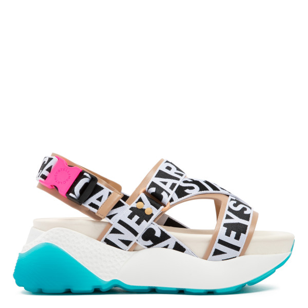 Black and white Eclypse Sandals