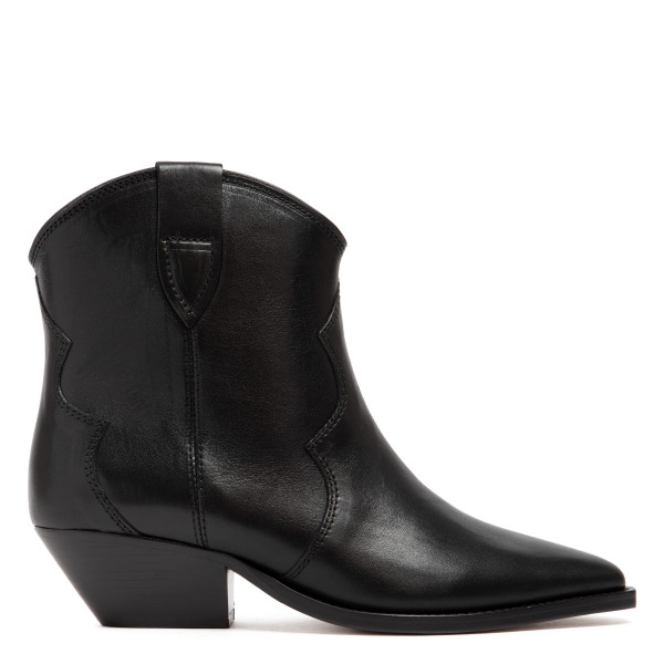 Dewina black leather booties