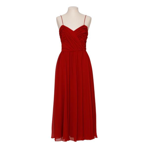 Red Silk georgette dress