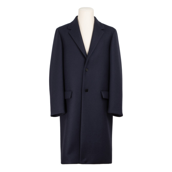 Dark Blue single breasted coat
