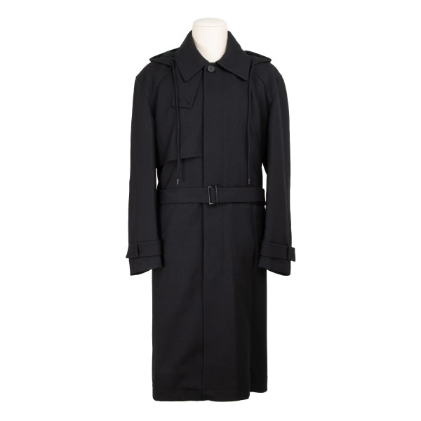 Black p33 wool trench