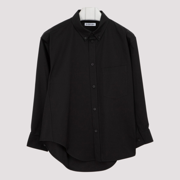 Black cotton poplin twisted...
