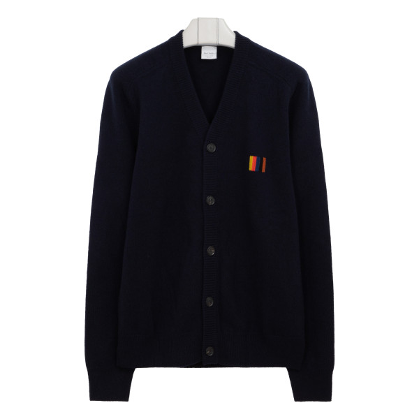 Navy wool buttoned cardigan