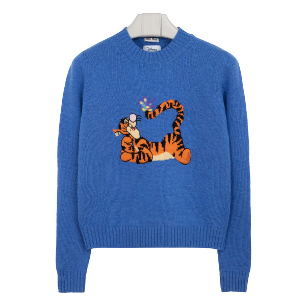 Blue wool sweater with Tigro