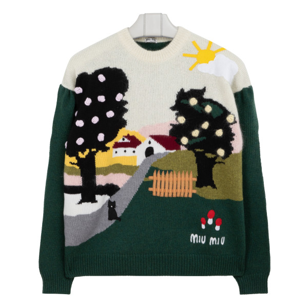 Landscape wool sweater
