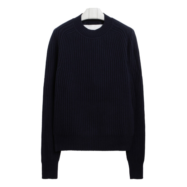 Navy blue cashmere sweater