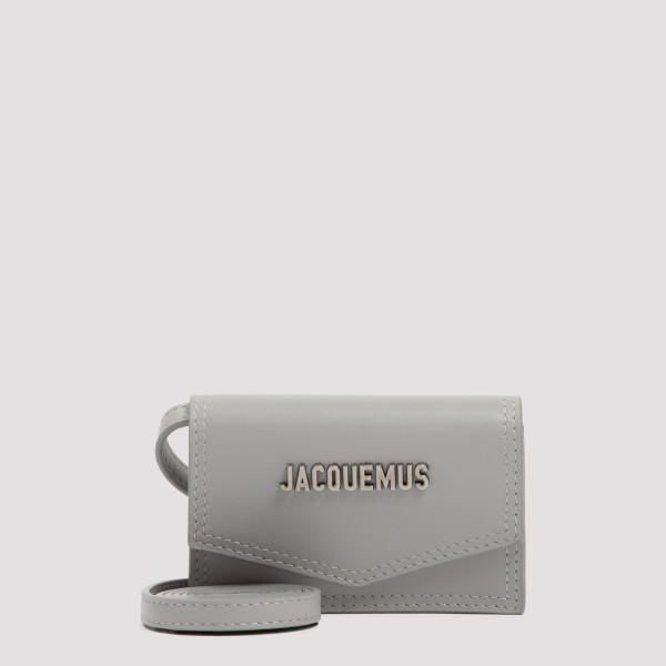 Le porte gray leather wallet