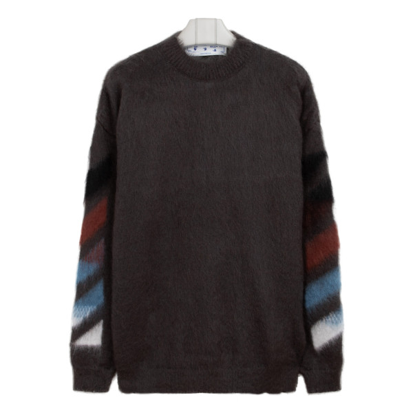 Diag arrows brushed mohair-blend sweater