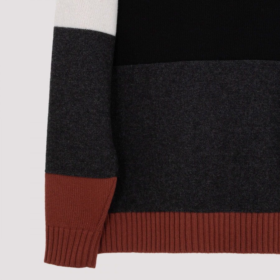 find Marchio Colour Block Knitted Uomo