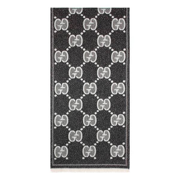 Black and white Lady nest scarf