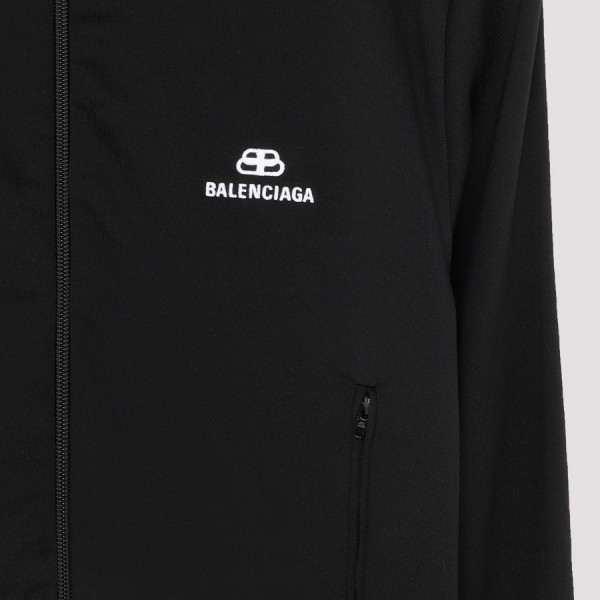 Black tracksuit jacket with logo