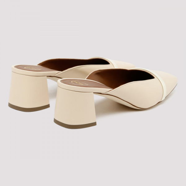 Carmen 45 two-tone leather mules