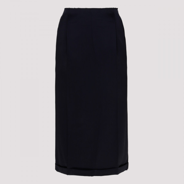 Navy high-waisted skirt