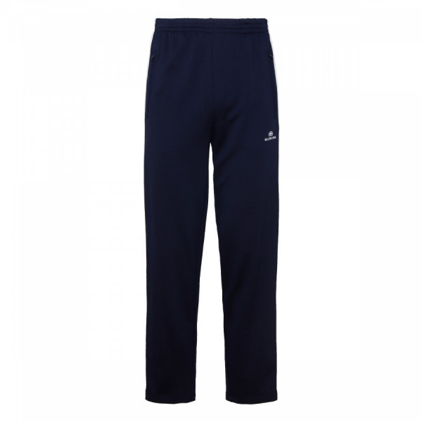 Blue and white cotton tracksuit pants