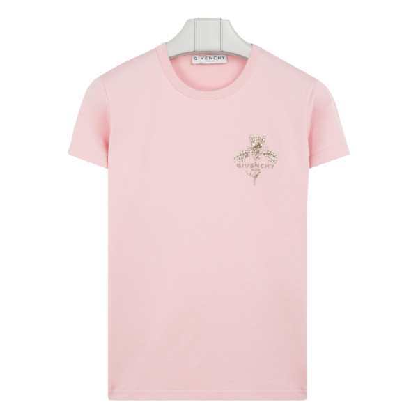 Pink t-shirt with sparkling logo