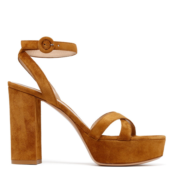 Poppy tan suede sandals