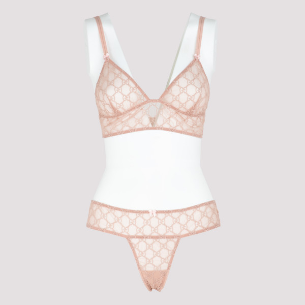 Pale pink GG embroidered...