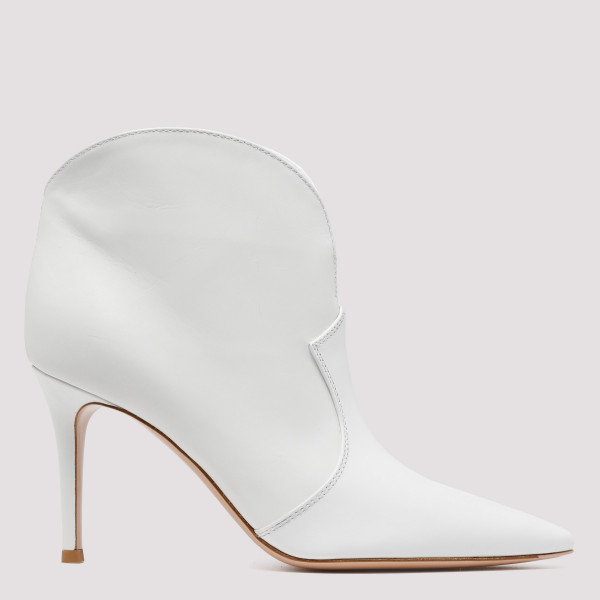 Mable white mid booties