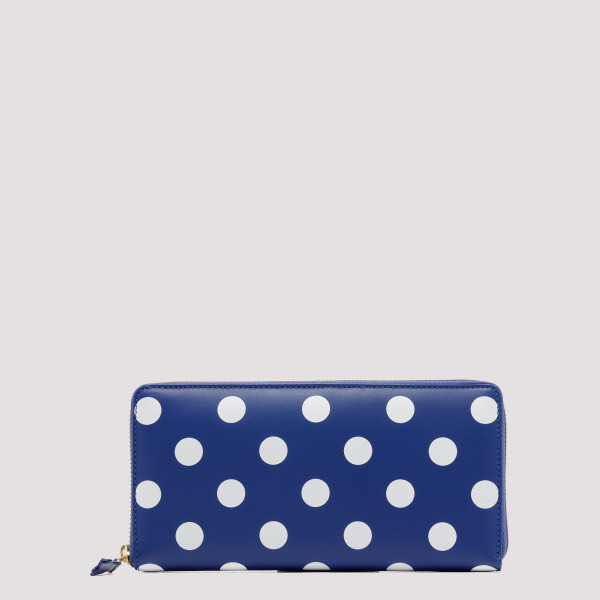 Blue Polka Dot Long Wallet