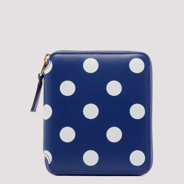 Blue and white polka dots...