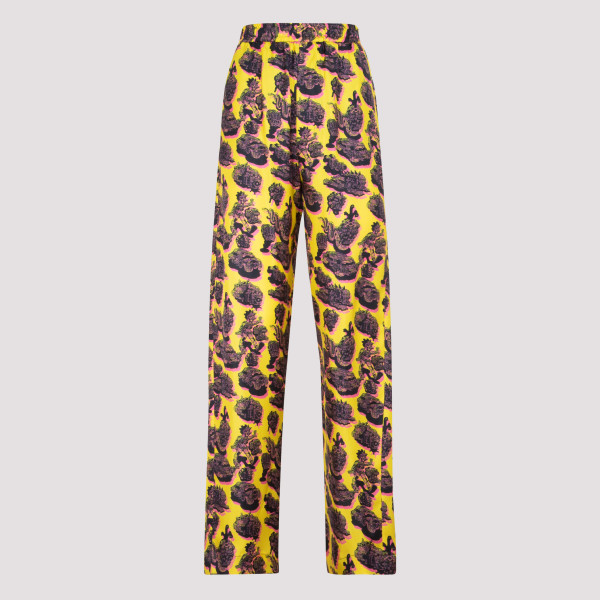 Yellow Graphic print trousers
