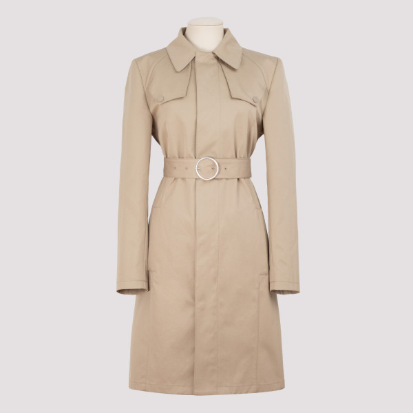 Cotton Canvas Belted Trench...