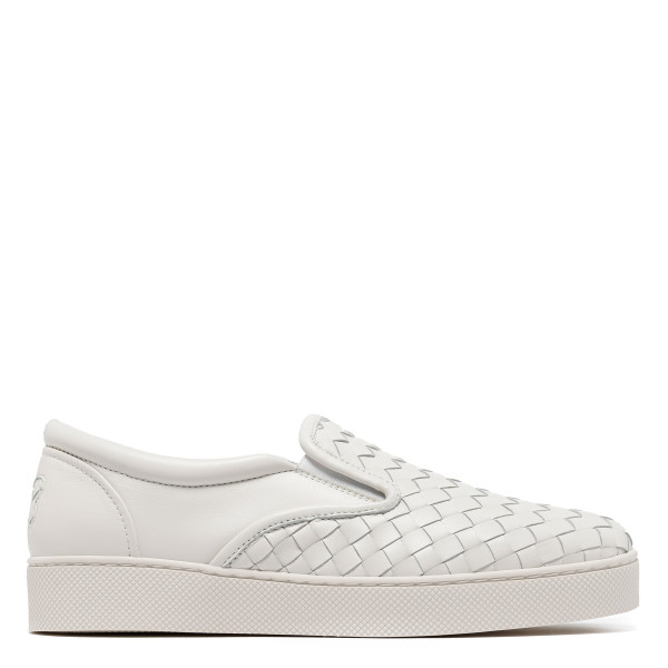 Dodger intrecciato leather slip on sneakers