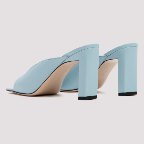 Isa light blue leather sandals