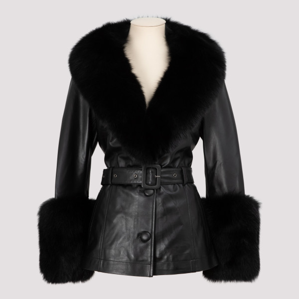 Black leather and fur...