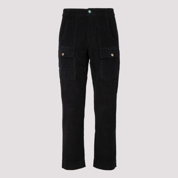 Black corduroy cargo pants