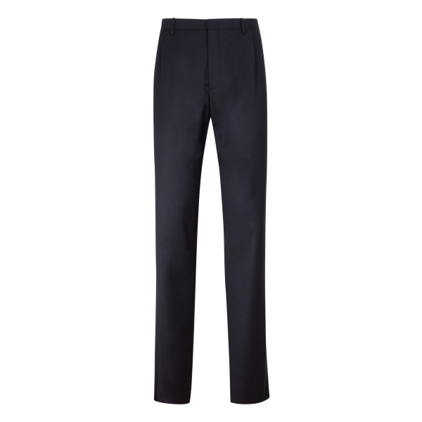 Blue stretch wool pants