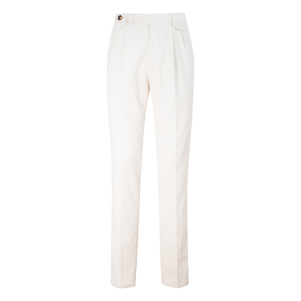 Milk white corduroy pants