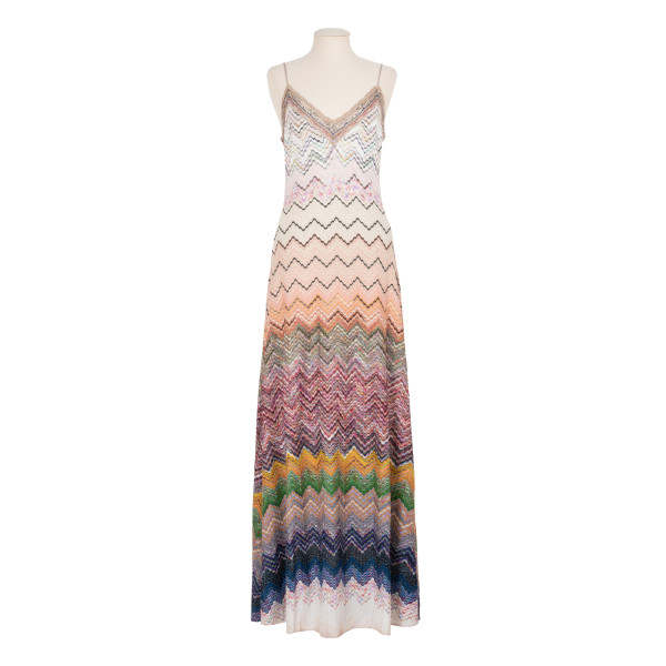 Ombré knit slip dress